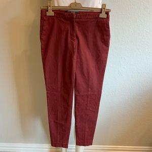 PESERICO PME Brick Red Cotton Skinny Pants Sz 40